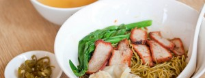 Wanton Noodles in Singapore. Yummy.