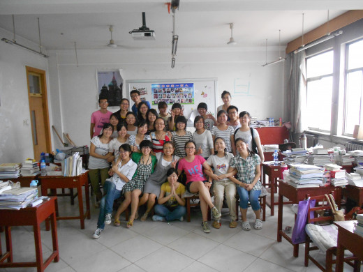 One of my English Writing classes in China.