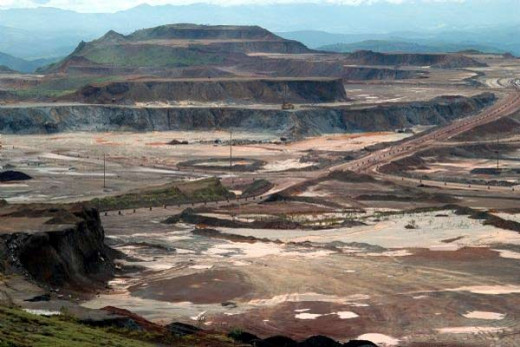 The Carajas Iron ore mine