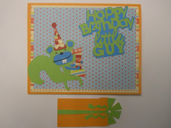 Easy to Make First Birthday Card & Gift Tag for a Boy using your Cricut Machine