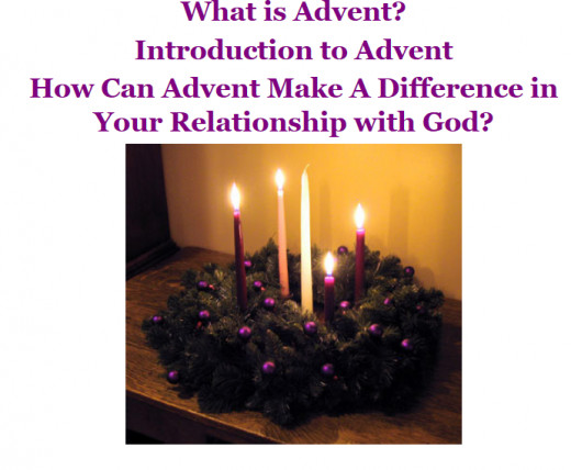 The Advent Wreath With Advent Colors