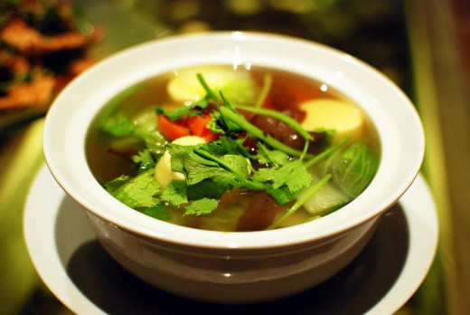 Thai soups are delicious and healthy with lots of herbs and spices packed with nutrients and antioxidants