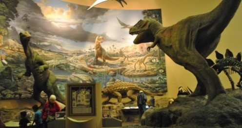 An incredible collection of prehistoric sculptures inside and outside of the Museum