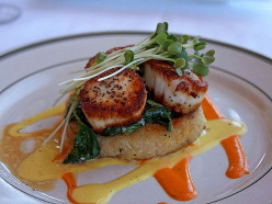 Four Sea Scallop Recipes, Pan Seared with Herbs, Greens, Sauces