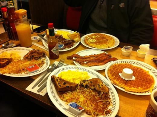 Plenty to eat at Waffle House!