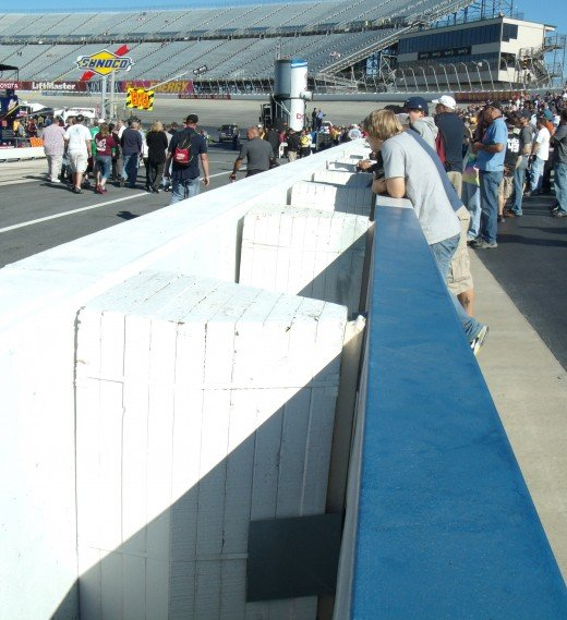 A close-up look at the SAFER barrier in place at Dover
