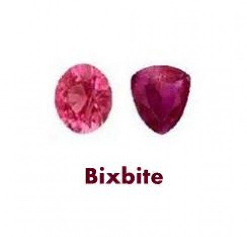 Bixbite (red Beryl) Gemstones are also known as Red Emerald (or American Red Emerald) and Scarlet Emerald.