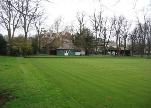Christ's Pieces' bowling green - host to the City of Cambridge Bowls Club.