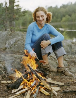 If your area allows outdoor fires, this is the perfect time to enjoy a cookout and storytelling around the campfire!