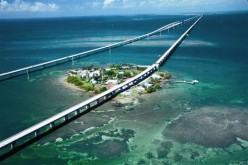 The Seven Mile Bridge that connects Marathon in the middle keys to Little Duck Key in the Lower Keys.