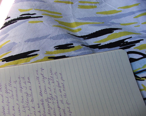 Writing in your journal could really help deal with your problems.