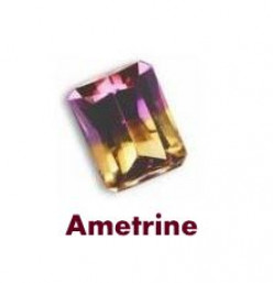 Ametrine Gemstone - Amethyst Citrine Combination Stone