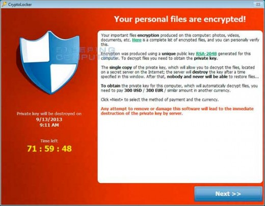 IT Leaders posted a CryptoLocker support page for the public.