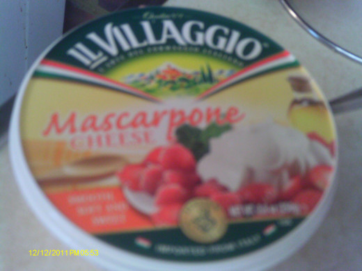 Mascarpone Cheese is lighter than cream cheese