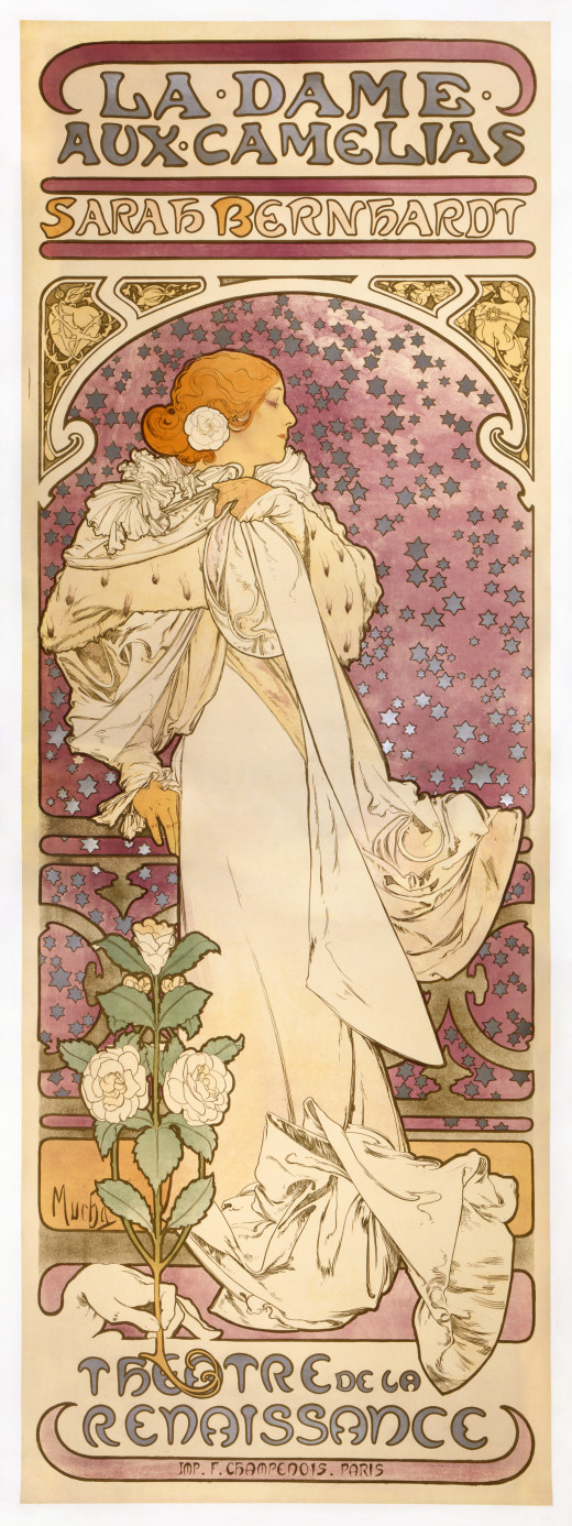 Poster for an 1896 production of La Dame aux Camelias