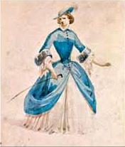 Sketch for one of Violetta's costumes for the La Traviata premiere