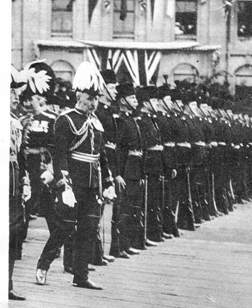 Revue of the Canadian Guard at Quebec, before these precious Territorials embarked on their journey to the aid of Britain and France in the Great War