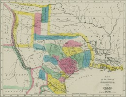 Map of Old Three Hundred in Texas