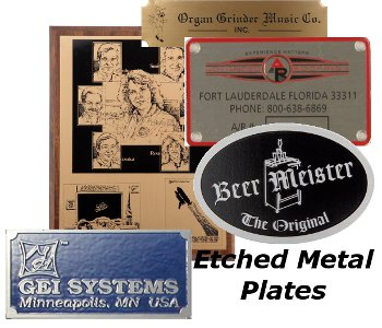Different Kinds of Metal Nameplates
