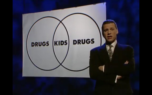 "From the ""Drugs"" episode of Brass Eye."