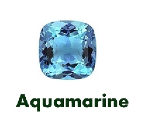 Aquamarine Gemstone is the birthstone for March. This is the wedding anniversary gem for the 16th and 19th year of marriage.