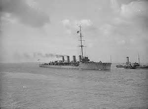 HMS Fearless involved in the battle of May Island.