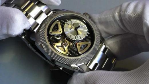 Fossil Machine Twist Stainless Steel Watch