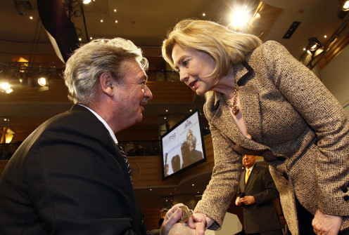 Foreign Minister Jean Asselborn meeting US Secretary of State Hillary Clinton, in Munich, 2011