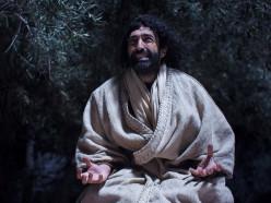 Jesus agonizes in he garden.