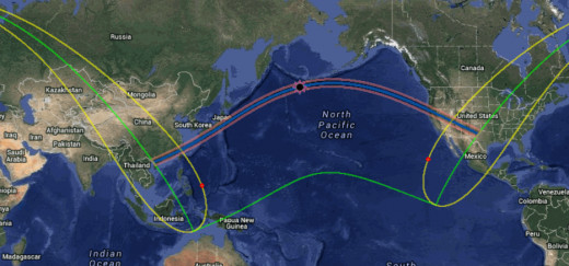 Eclipse path for Annular eclipse of 5/20/12.