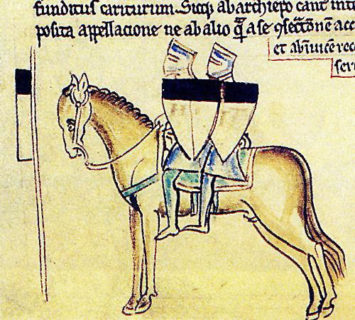 The original insignia of the Templar was two knights riding a single horse, indicative of their state of poverty.