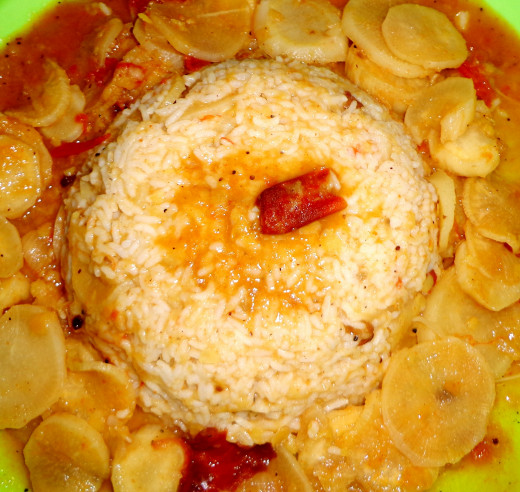 Declicious Mullangi Sambar Sadham or Radish Sambar Rice South Indian Tamilnadu or Madras Style Recipe