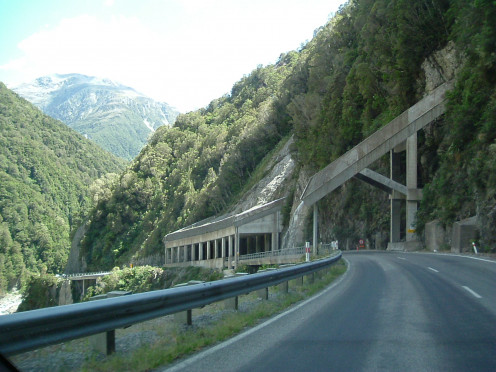 Road over Otira Gorge