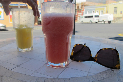 This refreshing drink can even be drank at the street.