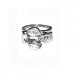 Herkimer Diamond Quartz Gemstone Ring