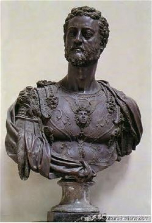 A Bust Scultped by Benvenuto Cellini