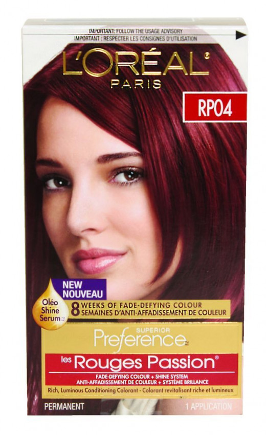 Loreal Superior Preference Rp04 Rr04 Deep Intense Red Hair Color