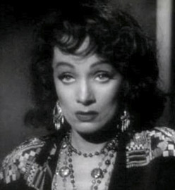 Marlene Dietrich... The classic femme fatal, in a uncommon setting.