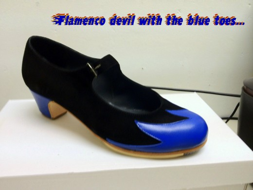 My Don Flamenco shoes with their blue-flame toes.