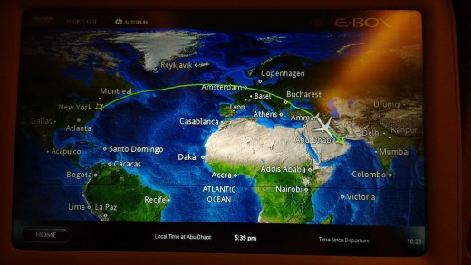 Flight Map on Etihad