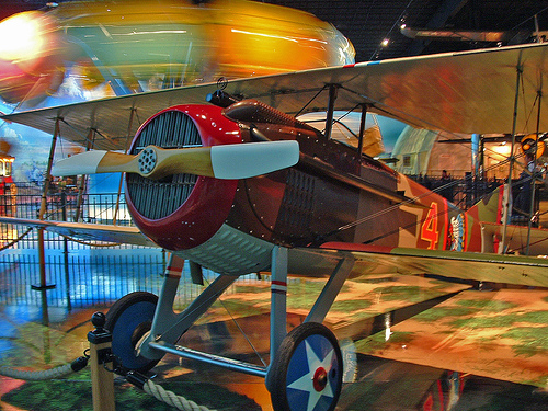 A Spad WWI Fighter in the Kalamazoo Air Zoo