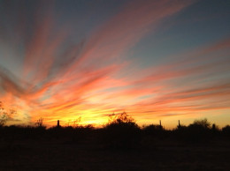 Sunset the night before my procedure.