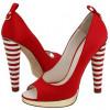Stunning Red Peep Toe Heels