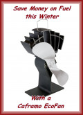 Use A Caframo Ecofan Wood Stove Fan, Be Warmer, Use Less Fuel!