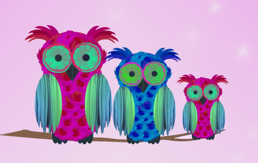 These owls are my most successful Zazzle design so far.  I consider them to be my best Photoshop cheat.