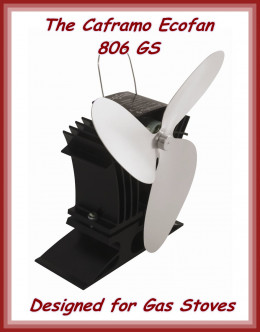 The three bladed Caframo 806 GS BelAir has a twin module in the base to enable efficient generation of electricity at low temperatures.