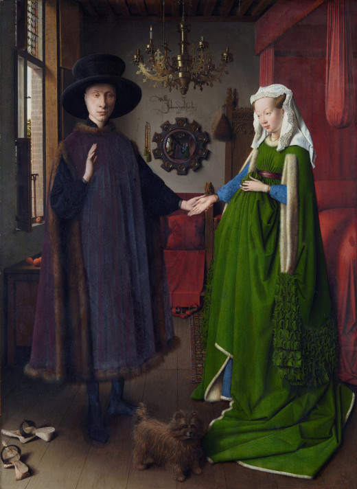 The Marriage of the Arnolfini by Jan van Eyck