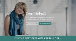Create a free website with a trendy, professional, mobile friendly free website builders
