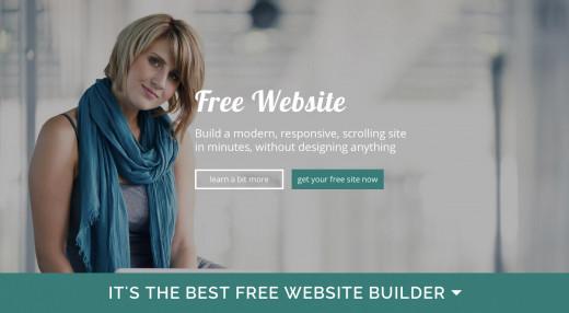 Free website creator service scrollysite.com