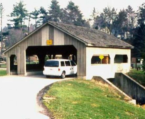 Christmas Run Park Covered Bridge in Wooster, Ohio. A famous Hubber lives nearby; (C.C.Riter)